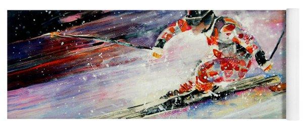 Skiing 01 Yoga Mat