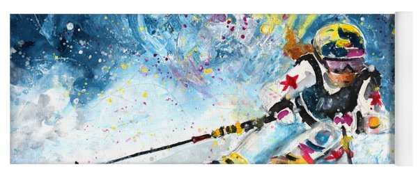 Skiing 03 Yoga Mat