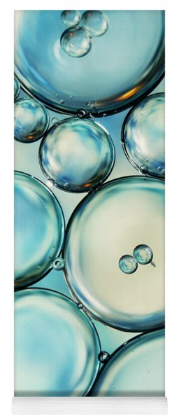 Sky Blue Bubble Abstract Yoga Mat