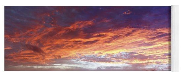Sky On Fire Yoga Mat