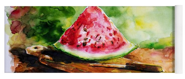 Sliced Watermelon Yoga Mat