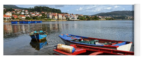 Small Boats In Galicia Yoga Mat