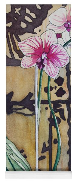 Small Orchids Yoga Mat