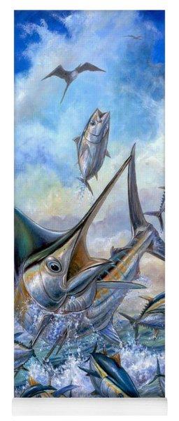 Small Tuna And Blue Marlin Jumping Yoga Mat
