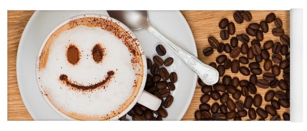 Smiley Face Coffee Yoga Mat
