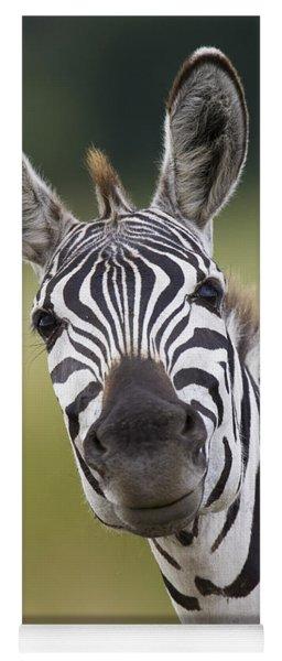 Smiling Burchells Zebra Yoga Mat