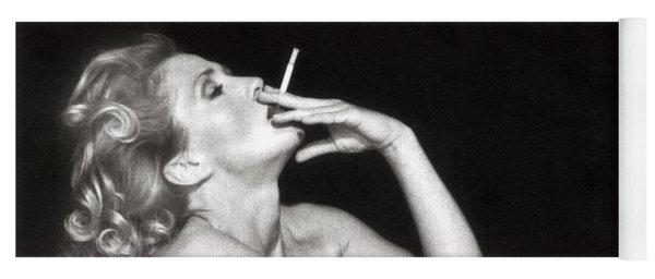 Smoking Nude  Yoga Mat