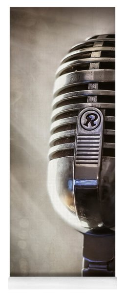 Smoky Vintage Microphone Yoga Mat