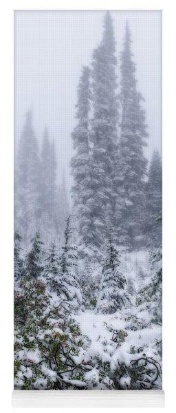 Snow Covered Mountain Ash Yoga Mat