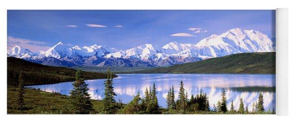 Snow Covered Mountains, Mountain Range Yoga Mat