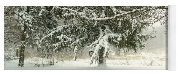Snow-covered Trees Yoga Mat