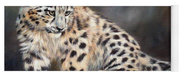 Snow Leopard Cub Yoga Mat