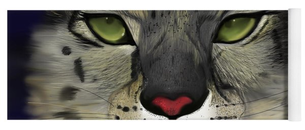 Snow Leopard - The Eyes Have It Yoga Mat