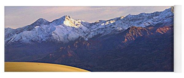 Snow On The Grapevine Range.  Yoga Mat