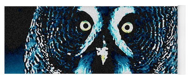 Snow Owl Yoga Mat