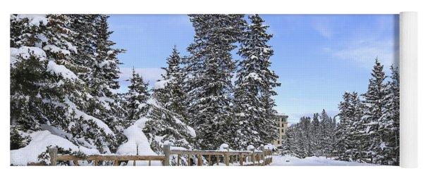 Snow Path Yoga Mat