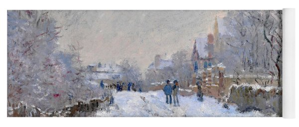 Snow Scene At Argenteuil Yoga Mat