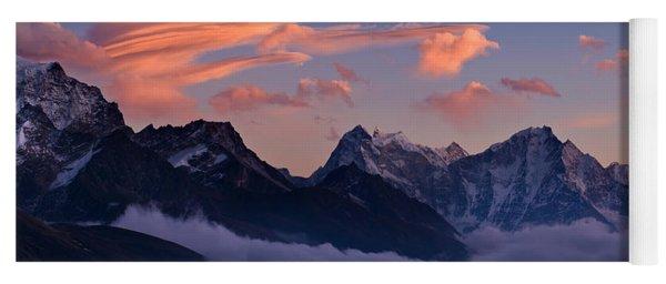 Snowcapped Mountains, Dudh Kosi Yoga Mat