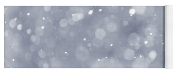 Snowfall Background Yoga Mat