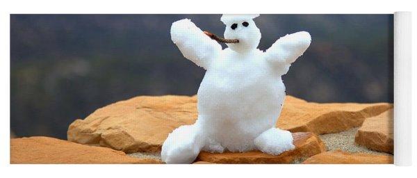 Snowman At Bryce - Square Yoga Mat