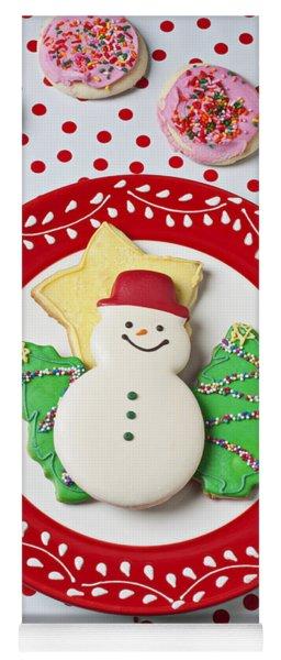 Snowman Cookie Plate Yoga Mat