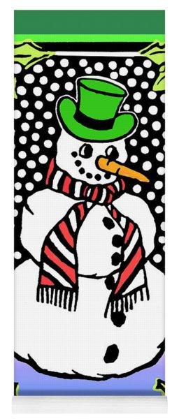 Snowman Yoga Mat