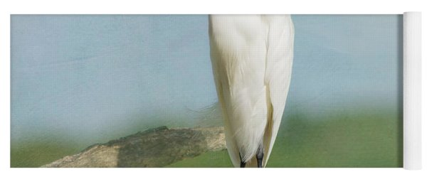 Snowy Egret Yoga Mat