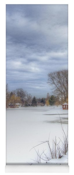 Snowy Lake Yoga Mat
