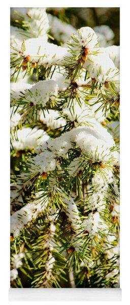 Snowy Pines Yoga Mat