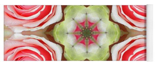 Soft Pink Rose Mandala Yoga Mat