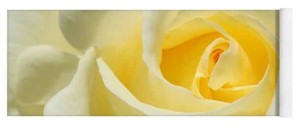 Soft Yellow Rose Yoga Mat