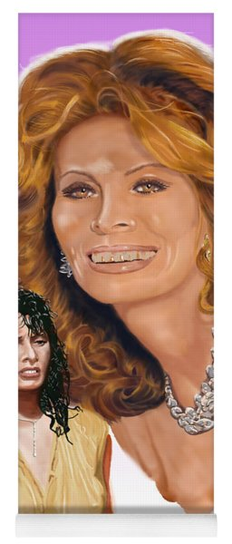 Sophia Loren Yoga Mat