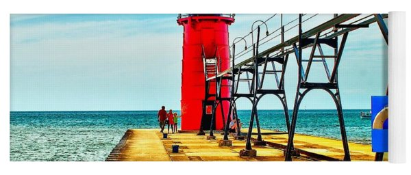 South Haven Lighthouse Yoga Mat