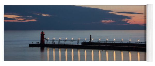 South Haven Michigan Lighthouse Yoga Mat