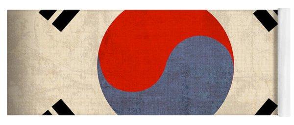 South Korea Flag Vintage Distressed Finish Yoga Mat