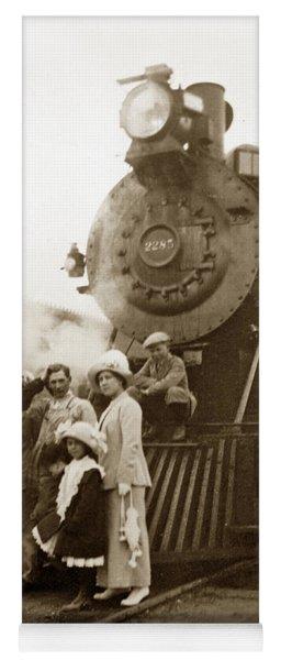 S P Baldwin Locomotive 2285  Class T-26 Ten Wheel Steam Locomotive At Pacific Grove California 1910 Yoga Mat