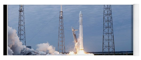Spacex-2 Mission Launch Nasa Yoga Mat