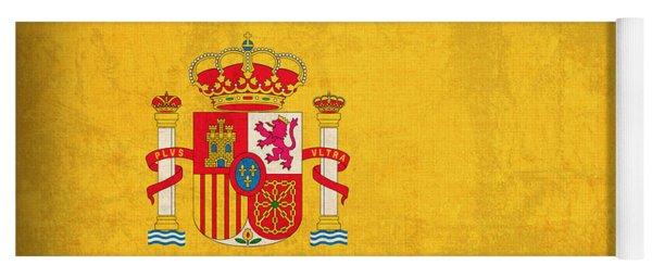 Spain Flag Vintage Distressed Finish Yoga Mat