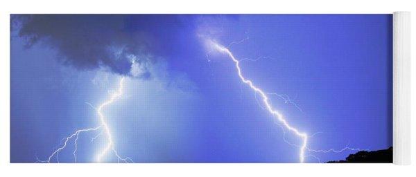 Spectacular Double Lightning Strike Yoga Mat