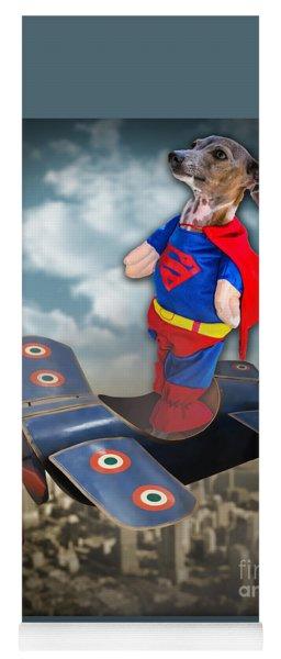 Yoga Mat featuring the digital art Speedolini Flying High by Kathy Tarochione