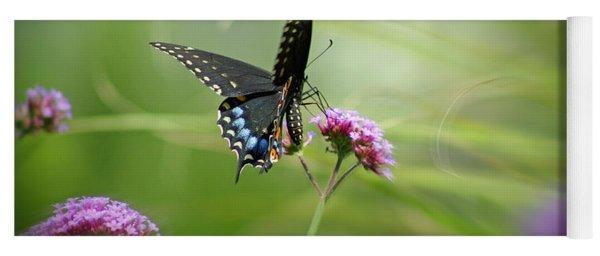 Spicebush Swallowtail Butterfly Yoga Mat