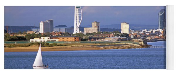 Spinnaker Tower And Gunwharf Quays Yoga Mat