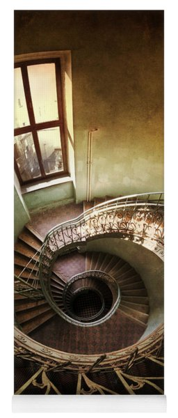 Spiral Staircaise With A Window Yoga Mat