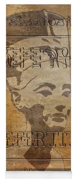 Spirit Of Nefertiti Egyptian Queen   Yoga Mat