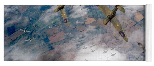Raf Spitfires Swoop On Heinkels In Battle Of Britain Yoga Mat