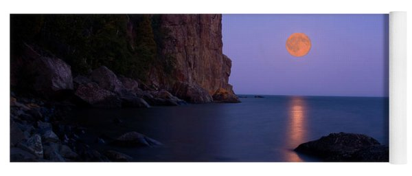 Split Rock Lighthouse - Full Moon Yoga Mat