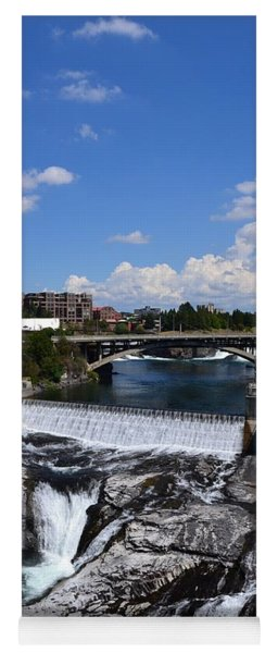 Spokane Falls And Riverfront Yoga Mat