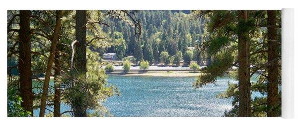 Forrest Mountain Trees Lake Scenic Photography Lake Gregory San Bernardino California - Ai P. Nilson Yoga Mat