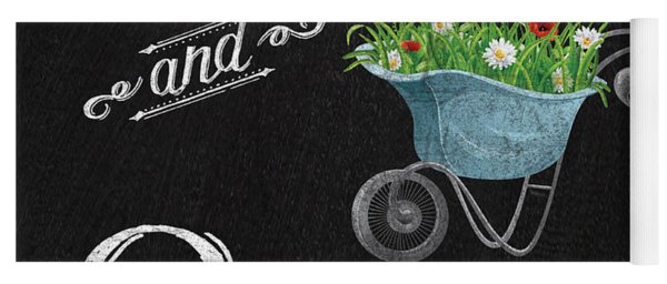 Spring Chalkboard Art-7 Yoga Mat