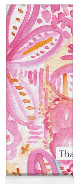 Spring Flowers Thank You Card Yoga Mat
